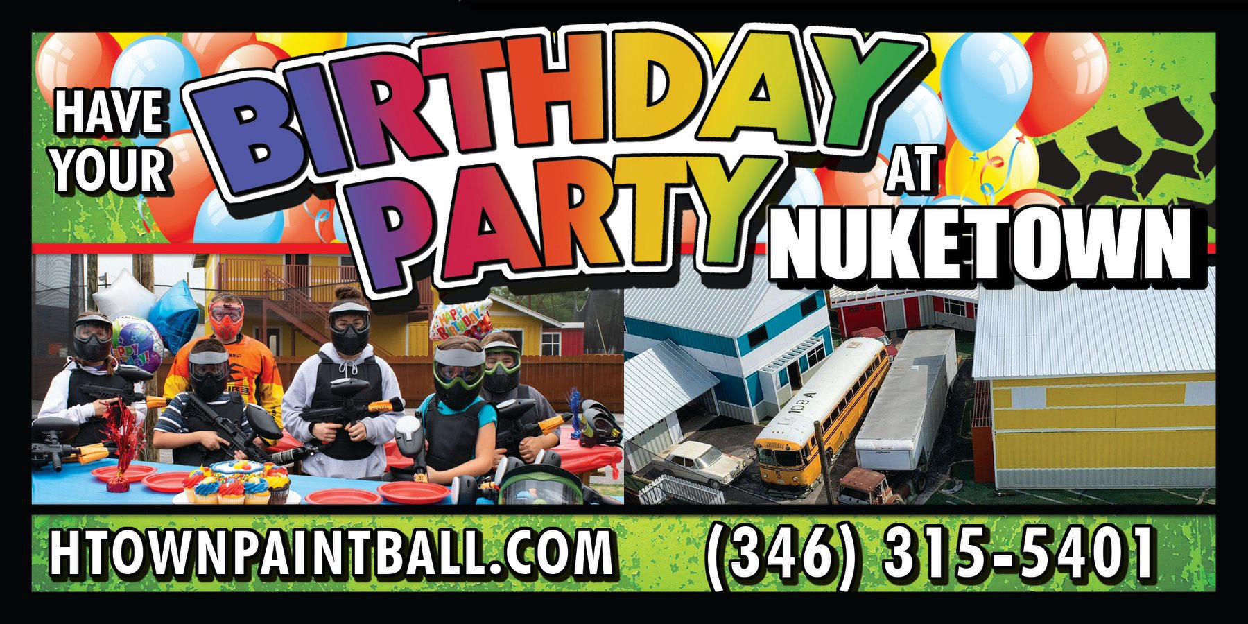 Book a Birthday Party Banner